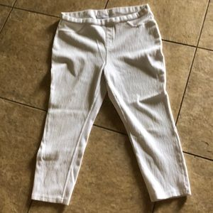 Denim - Capris stretch white sz Large